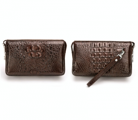 Large Capacity Crocodile Wallet-Brown Exhibition