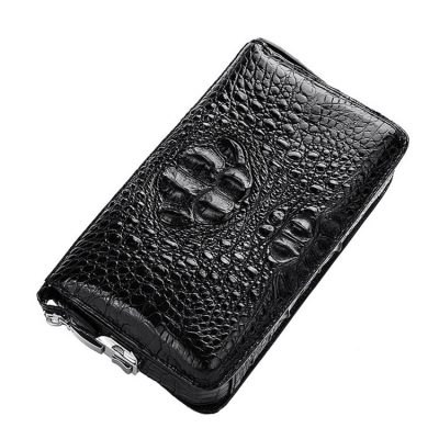 Large Capacity Crocodile Wallet, Casual Crocodile Long Wallet for Men