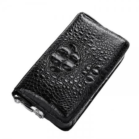 Large Capacity Crocodile Wallet, Casual Crocodile Long Wallet for Men