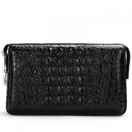 Large Capacity Crocodile Wallet, Casual Crocodile Long Wallet for Men-Back