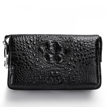 Large Capacity Crocodile Wallet, Casual Crocodile Long Wallet for Men-Front