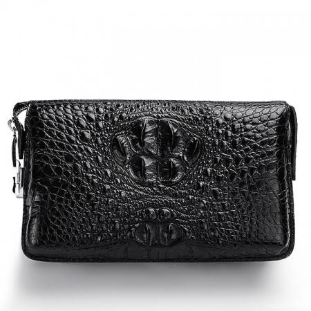 Large Capacity Crocodile Wallet, Casual Crocodile Long Wallet for Men-Front