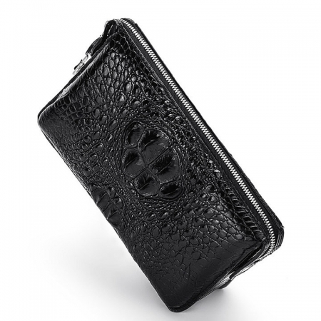 Large Capacity Crocodile Wallet, Casual Crocodile Long Wallet for Men-Top
