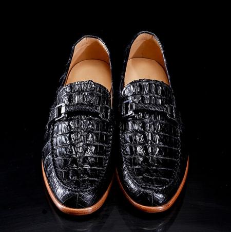 Luxury Handmade Crocodile Boat Shoes-1