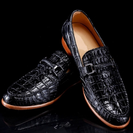 Luxury Handmade Crocodile Boat Shoes