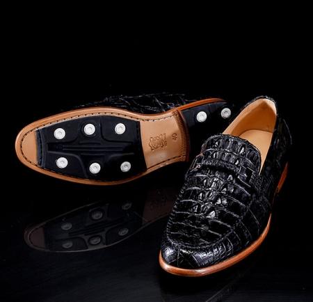 Luxury Handmade Crocodile Boat Shoes-Exhibition
