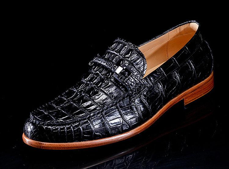 Luxury Handmade Crocodile Boat Shoes-Side