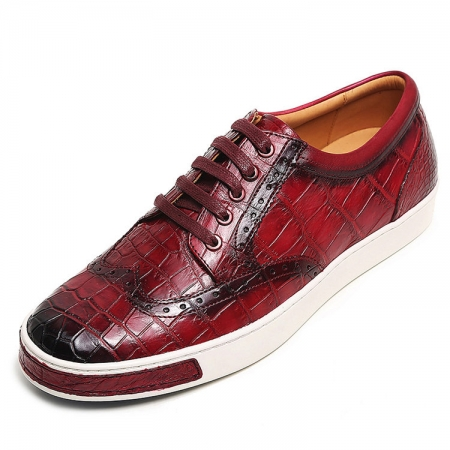Mens Fashion Alligator Oxford Sneakers