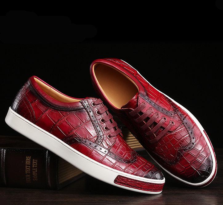 Mens Fashion Alligator Oxford Sneakers-Exhibition