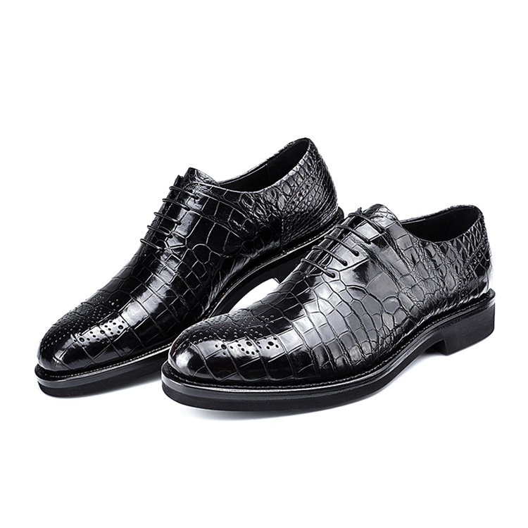 Men's Genuine Alligator Leather Formal Dress Party Wedding Office Oxford Shoes-1