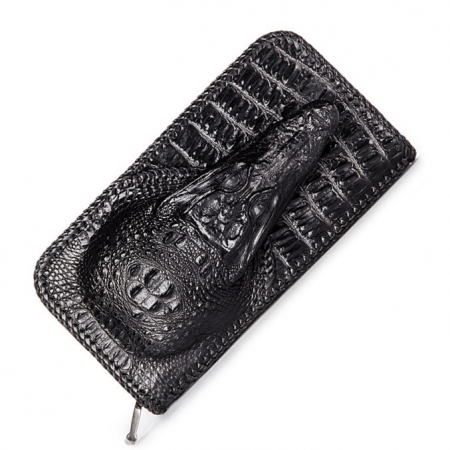 Personalized Crocodile Wallet, Handmade Crocodile Wallet for Men