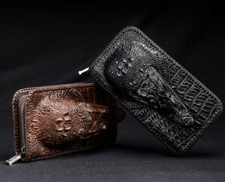 Personalized Crocodile Wallet, Handmade Crocodile Wallet for Men-Exhibitions