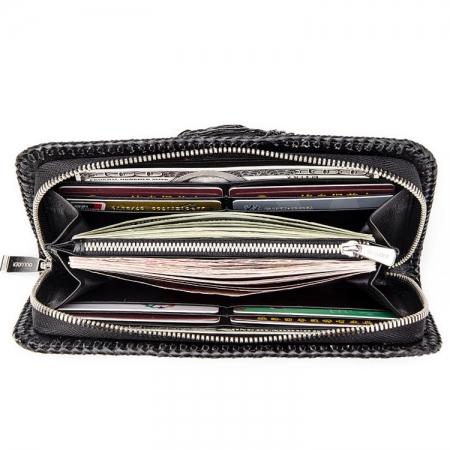 Personalized Crocodile Wallet, Handmade Crocodile Wallet for Men-Inside
