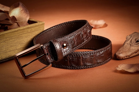 Stylish Genuine Alligator Belt Handmade Alligator Belt for Men-Exhibition
