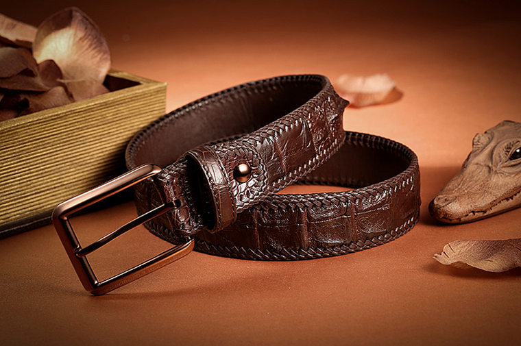 Stylish Genuine Alligator Belt Handmade Alligator Belt for Men-Exhibition