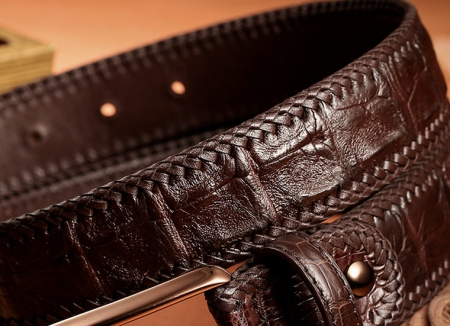 Stylish Genuine Alligator Belt Handmade Alligator Belt for Men-Skin
