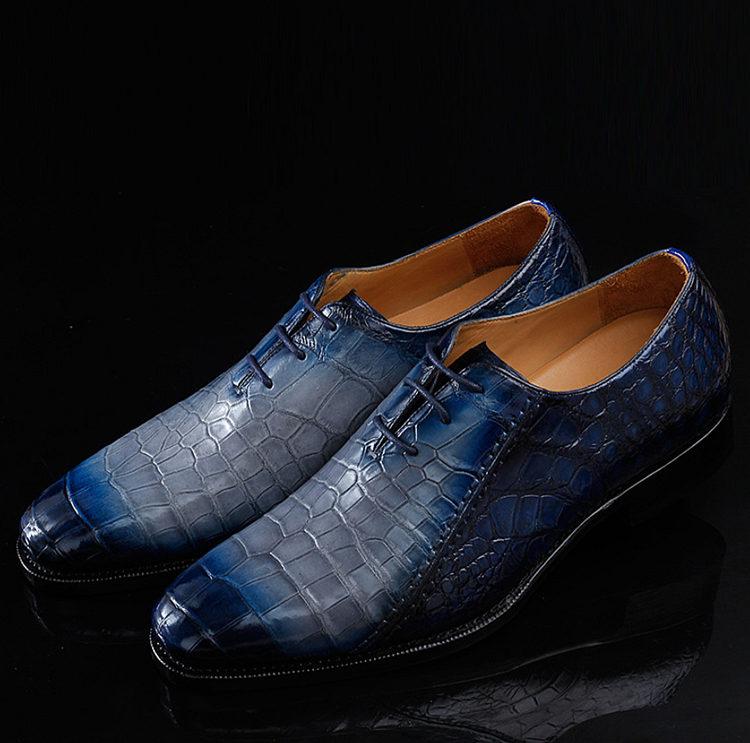 Timeless Alligator Shoes Mens Full Alligator Dress Shoes-1