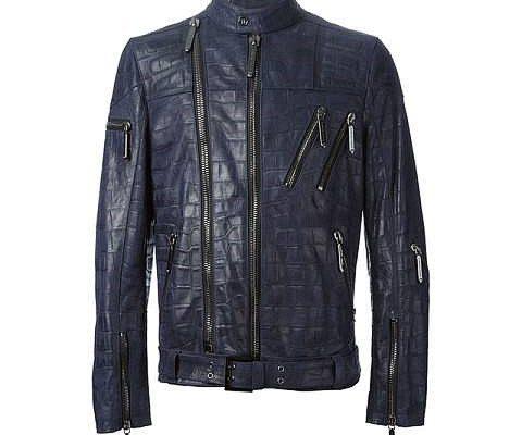 crocodile leather jacket-2017