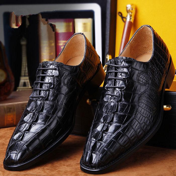 2018 New BRUCEGAO's Fashion Alligator Shoes