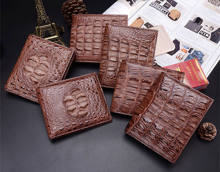 BRUCEGAO's Handmade Crocodile Wallet