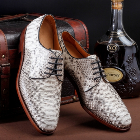 Business Snakeskin Shoes, Casual Python Skin Shoes for Men