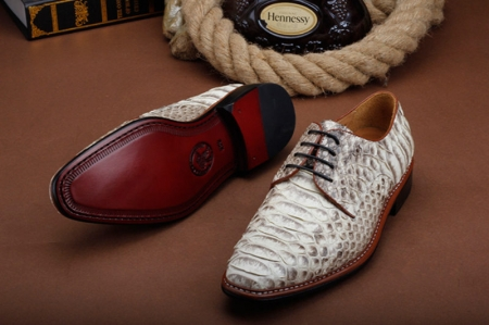 Business Snakeskin Shoes, Casual Python Skin Shoes for Men-Sole