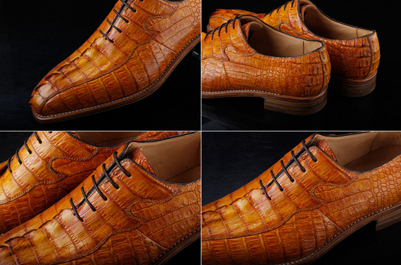Casual Business Alligator Shoes for Men-Detail