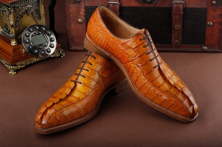 Casual Business Alligator Shoes for Men-Exhibition