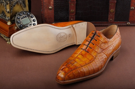 Casual Business Alligator Shoes for Men-Sole
