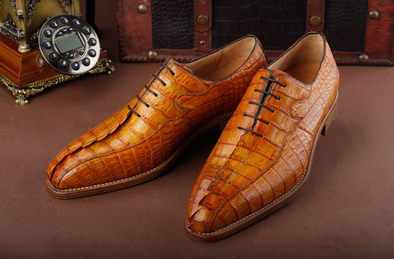 Casual Business Alligator Shoes for Men-Upper