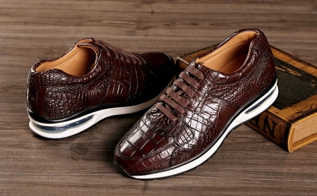 Comfortable Sports Running Alligator Shoes for Men-Brown-1