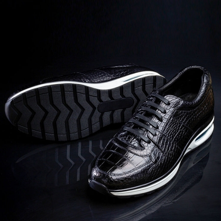 Comfortable Sports Running Alligator Shoes for Men-Sole