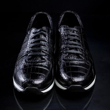 Comfortable Sports Running Alligator Shoes for Men-Upper