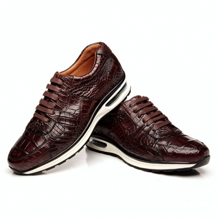 Comfortable Sports Running Alligator Skin Shoes for Men