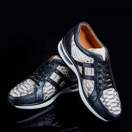 Genuine Snakeskin Air Sports Athletic Running Shoes