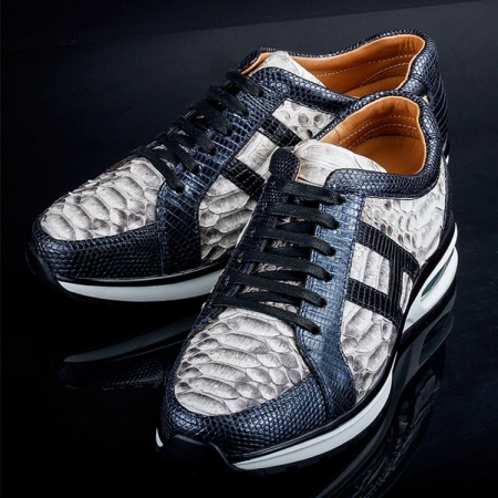Genuine Snakeskin Air Sports Athletic Running Shoes-Exhibition