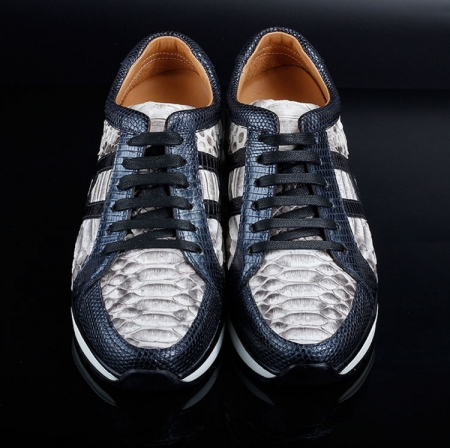 Genuine Snakeskin Air Sports Athletic Running Shoes-Upper