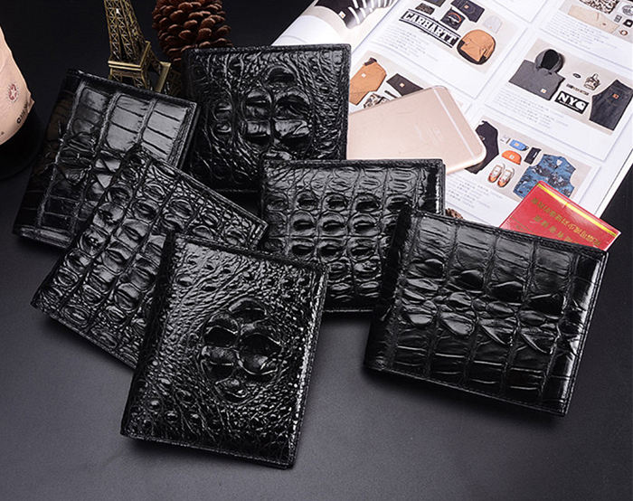 Handmade Genuine Skin Crocodile Wallet for Men