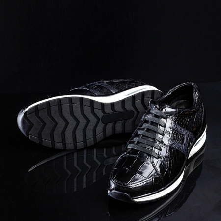 Lightweight Air Cushion Alligator Skin Running Shoes-Sole