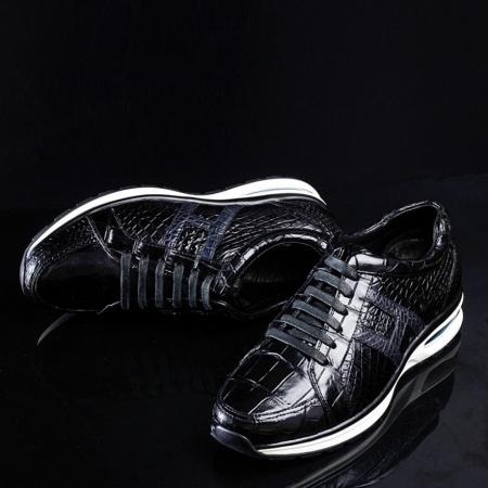 Lightweight Air Cushion Alligator Skin Running Shoes-Upper