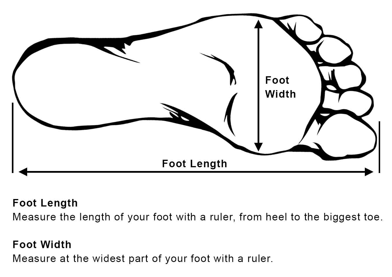 Measure Your Foot Length and Width