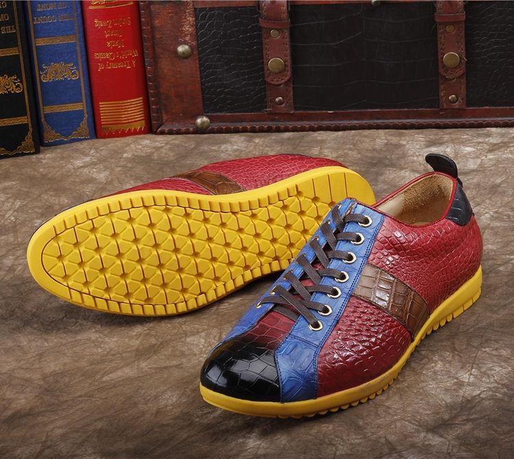 Mens Genuine Alligator Shoes Fashion Alligator Sneakers-Details