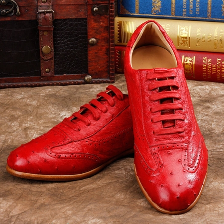 Mens Ostrich Shoes, Casual Exotic Shoes
