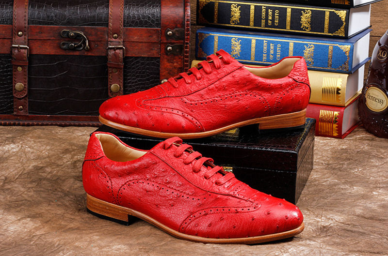 Mens Ostrich Shoes, Casual Exotic Shoes-Exhibition
