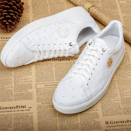 Ostrich Shoes, Casual Ostrich Sneakers for Men-1