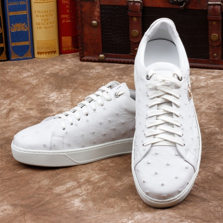 Ostrich Shoes, Casual Ostrich Sneakers for Men
