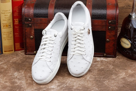 Ostrich Shoes, Casual Ostrich Sneakers for Men-Exhibition