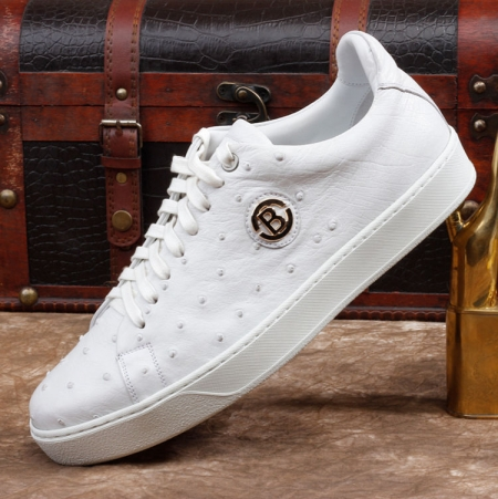 Ostrich Shoes, Casual Ostrich Sneakers for Men-Side