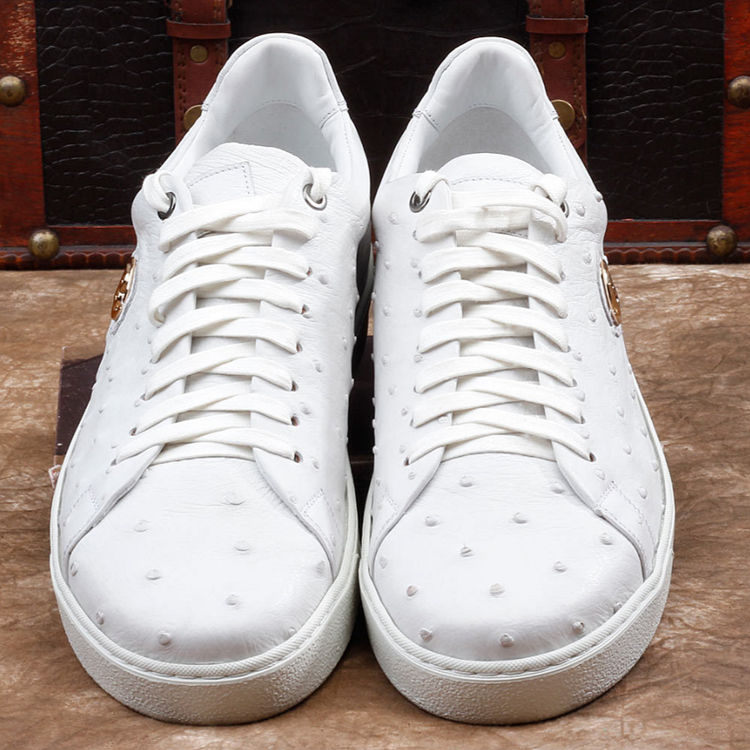 Ostrich Shoes, Casual Ostrich Sneakers for Men-Upper