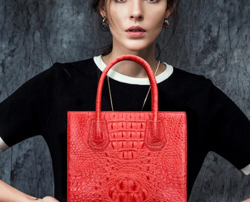 Red Crocodile Handbags and Alligator Handbags 2018
